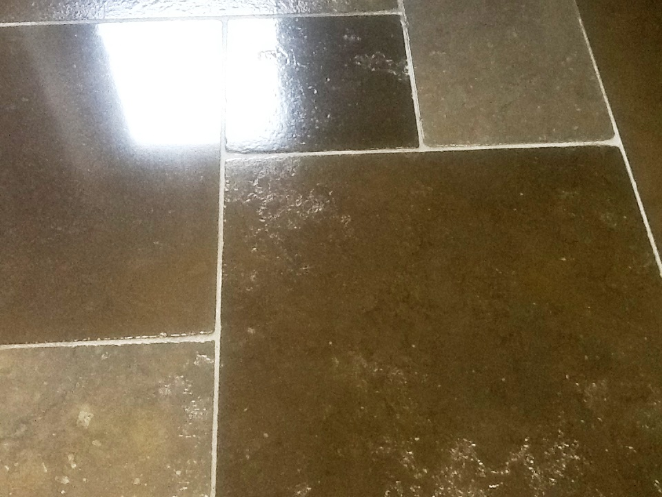 Limestone Tiles Kislingbury After Cleaning