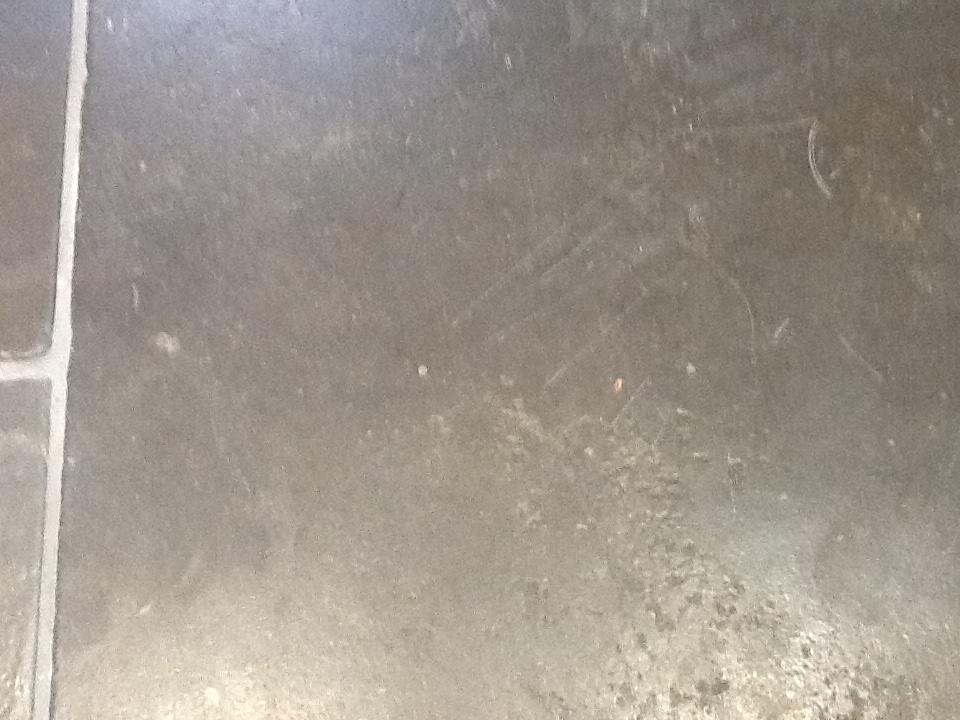 Limestone Tiles Kislingbury Before Cleaning