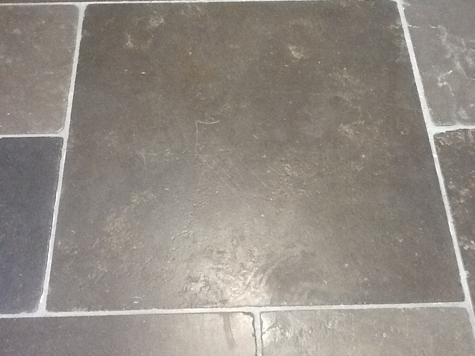 Limestone Tiles Kislingbury Before Cleaning