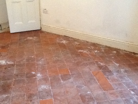 Quarry Tile Before Cleaning Thrapston