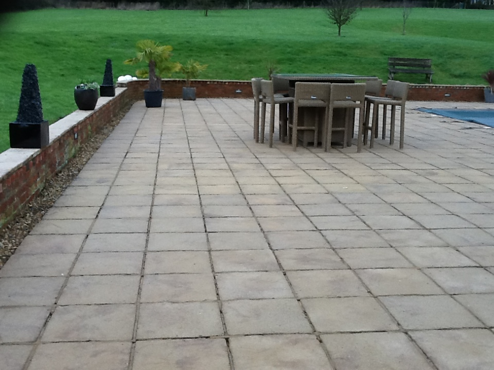 Sandstone Patio Brockhall After Cleaning