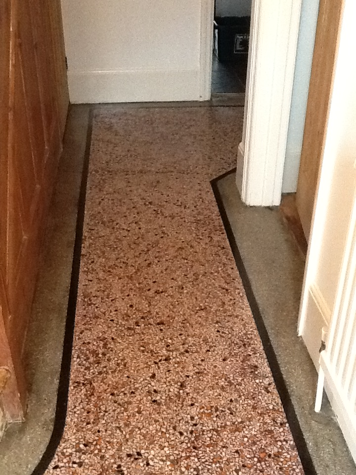 Terrazzo Hallway Northampton After Cleaning