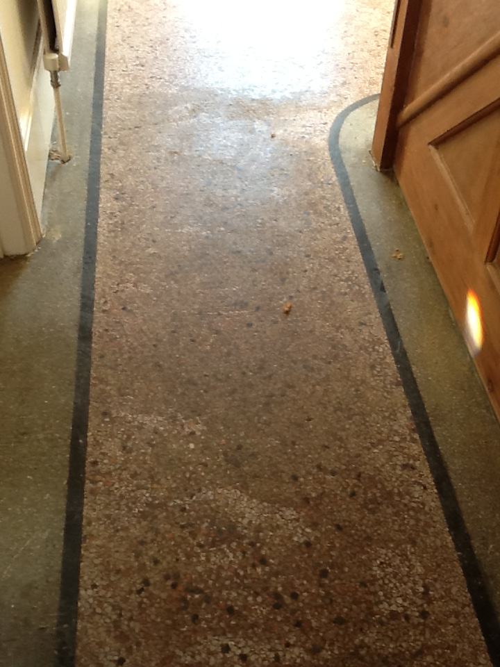 Terrazzo Hallway Northampton Before Cleaning