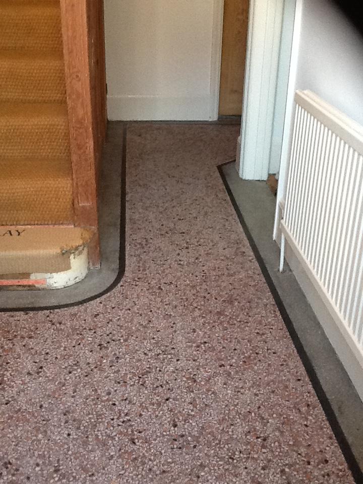 Terrazzo Hallway Northampton Before Cleaning