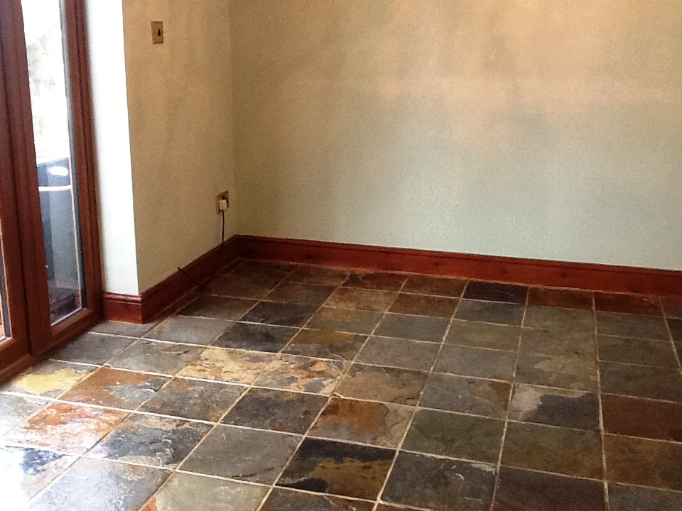 Chinese Slate After Cleaning and Sealing in Norton near Daventry