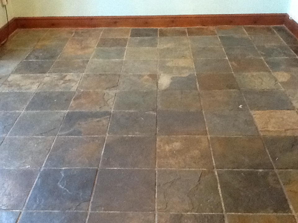 Chinese Slate Before Cleaning in Norton near Daventry