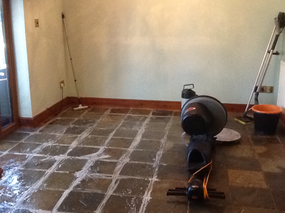Chinese Slate During Grout Cleaning in Norton near Daventry