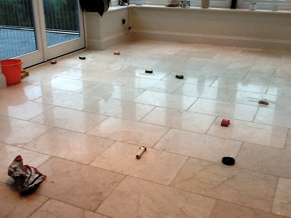 Repairing a Polished Marble Stone Floor
