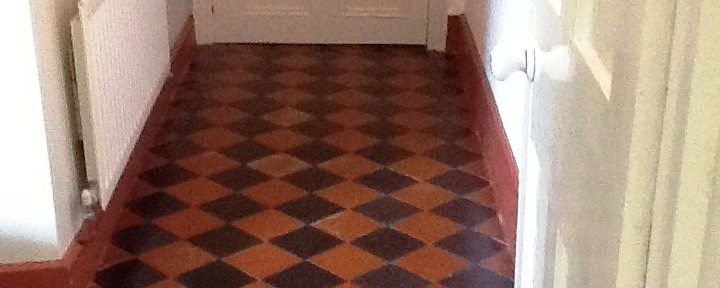 Colour Restored to a Faded Black and Red Quarry Tiled Floor in Welton