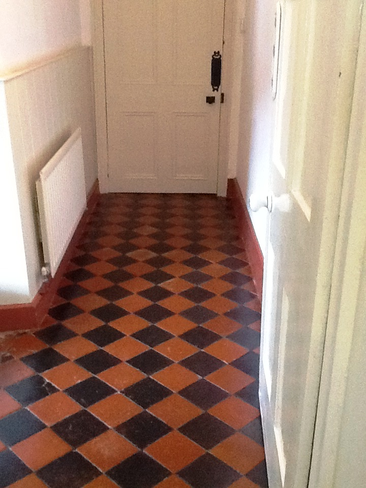 Black and Red Quarry Tiles Welton After Cleaning