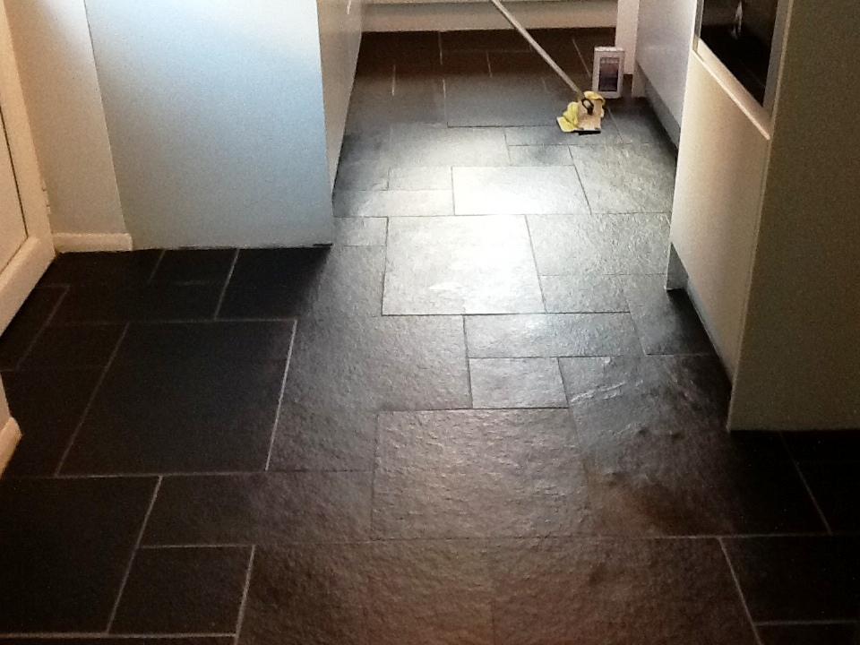 Grout Haze Tred Under Sealed Slate Tiles In Woburn Sands