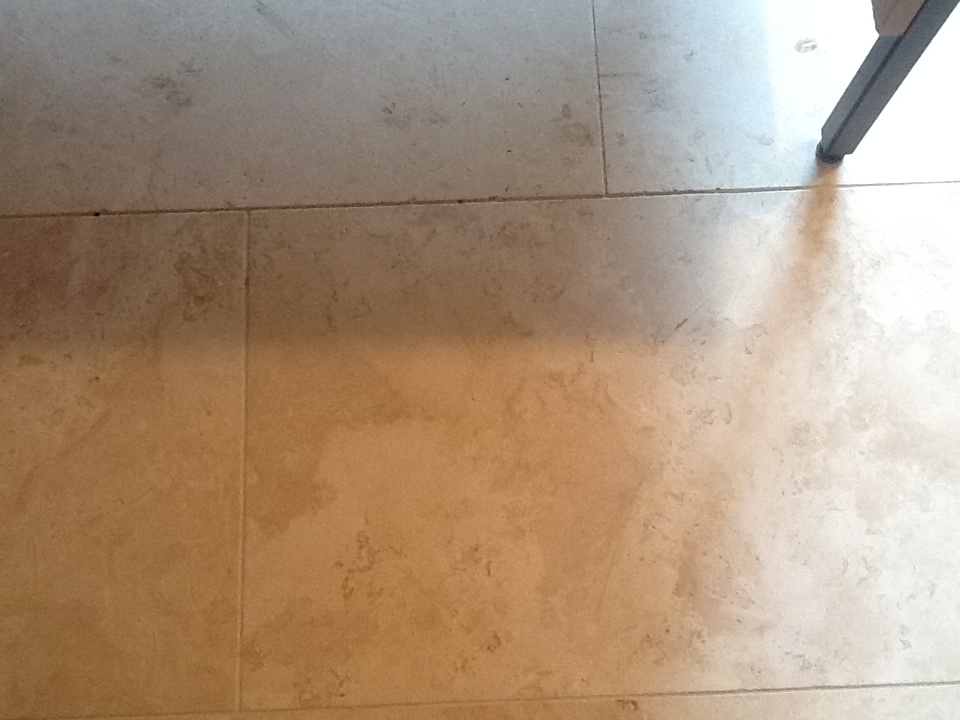 Pitted travertine before repair Oundle