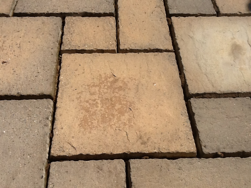 Sandstone patio slabs after cleaning Rushden