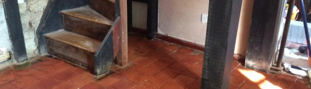 350-Year Old Original Quarry Tiles Salvaged and Restored in Ringstead
