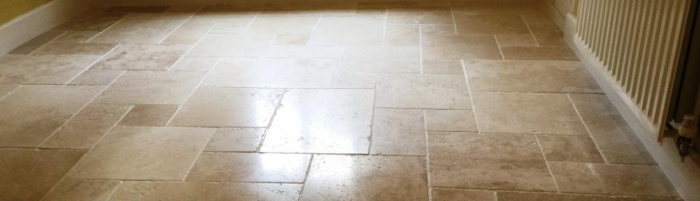 Burnishing Travertine Tiles To Restore Lustre in Staverton