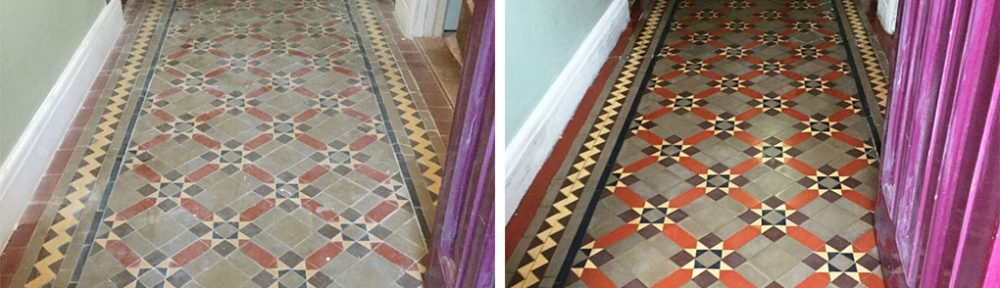 Century-old Victorian Tiled Floor Rejuvenated in Finedon