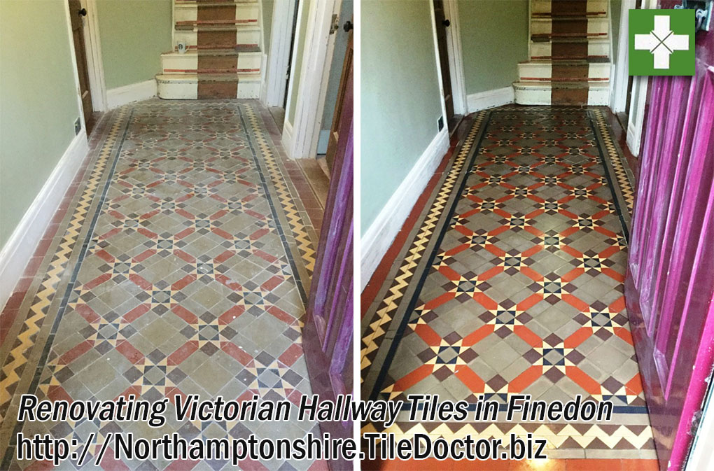 Renovating Victorian Hallway Tiles in Finedon