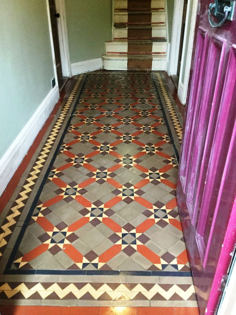 Victorian Tiled Floor After Cleaning in Finedon
