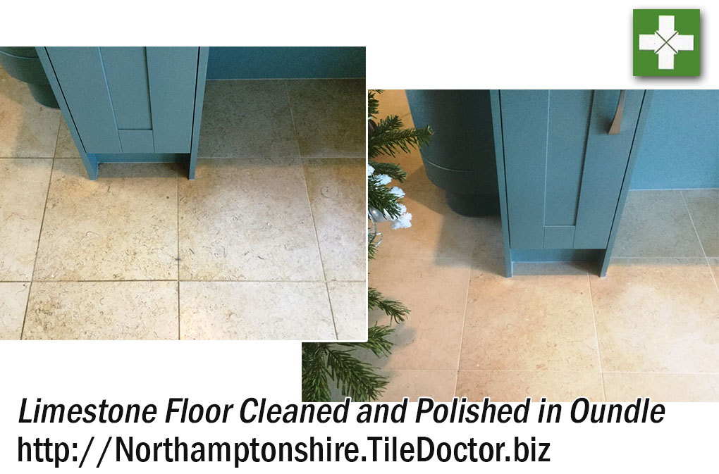 Limestone Floor Cleaned and Polished in Oundle