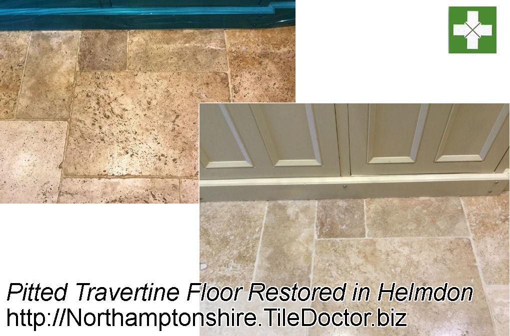 Pitted Travertine Floor Restoration Helmdon