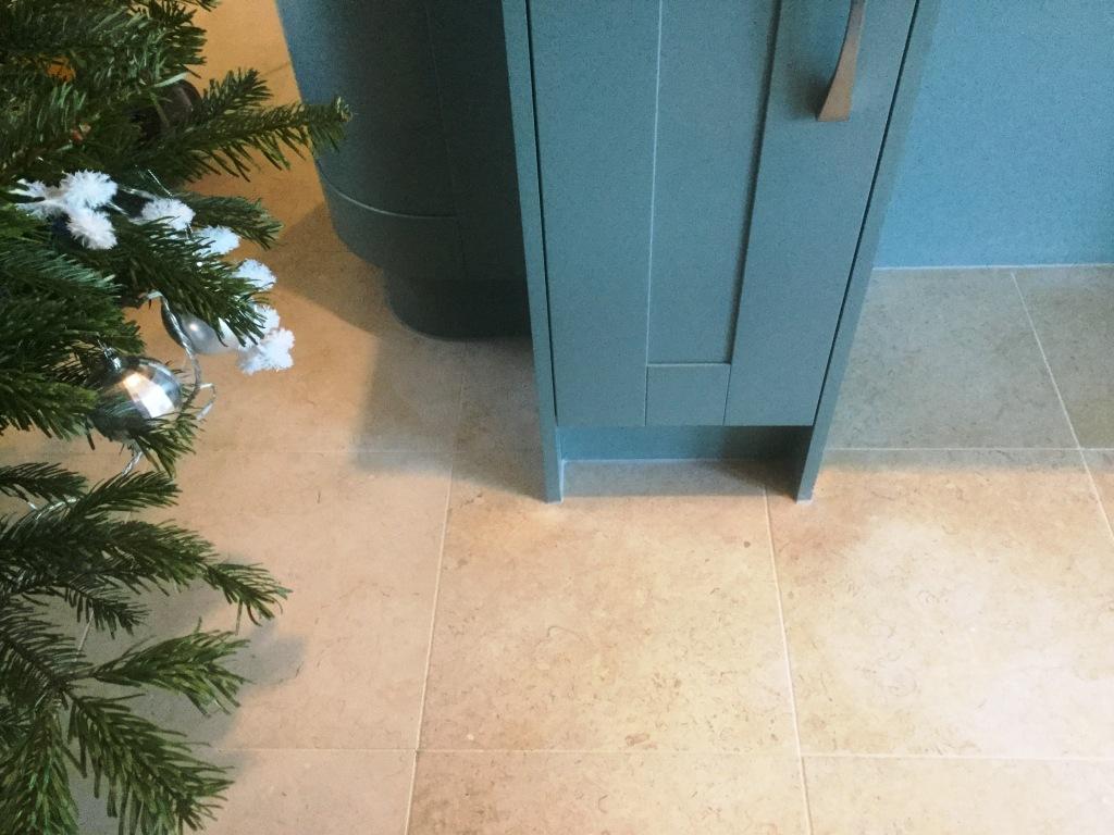 Polished Limestone Floor Ater Cleaning Ashton Village