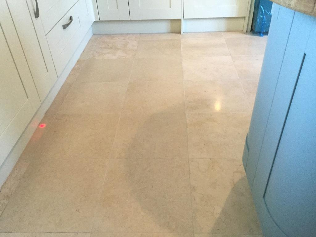 Polished Limestone Floor Ater Cleaning Ashton Village