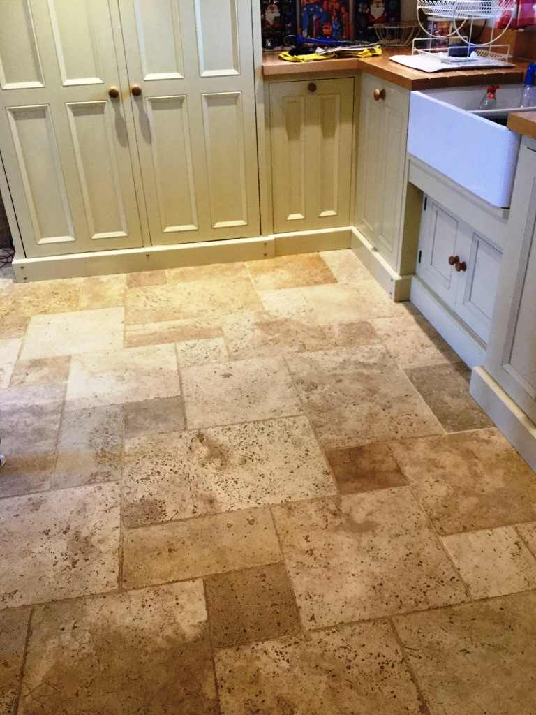 Dealing with a Pitted Travertine Tiled Floors – Stone Cleaning and