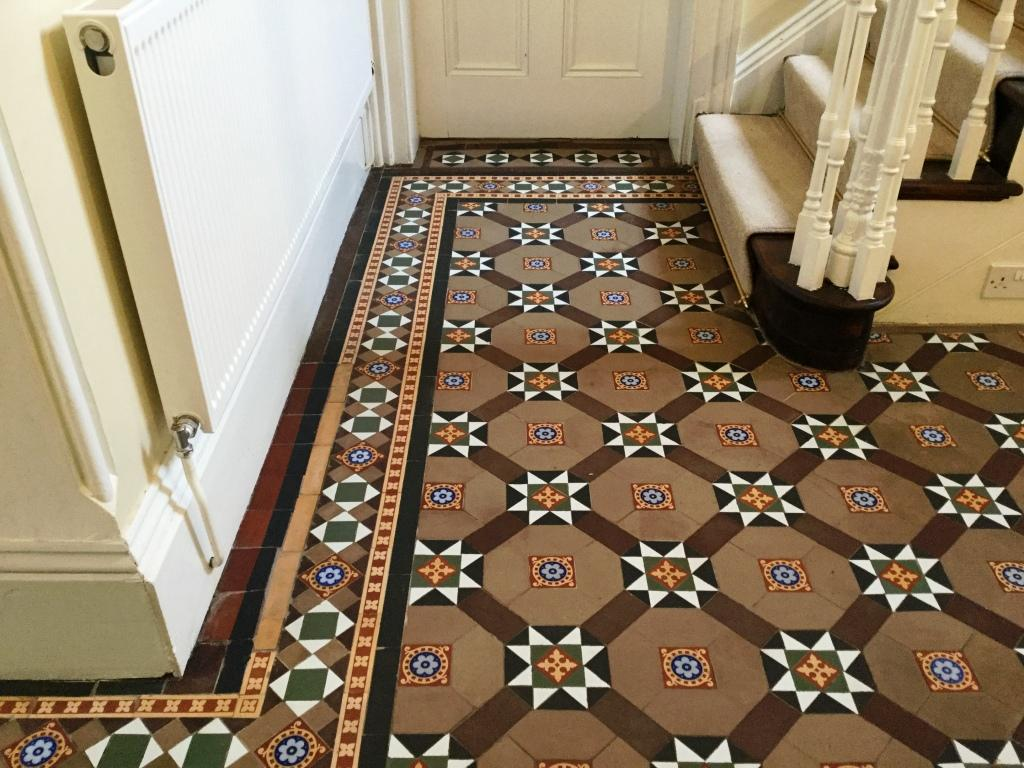 Victorian Tiled Floor After Cleaning West Haddon
