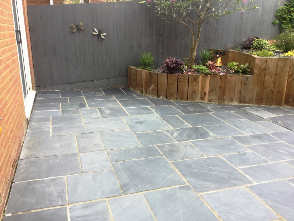 Newly Laid Riven Slate Patio Wollaston After 2nd Cleaning