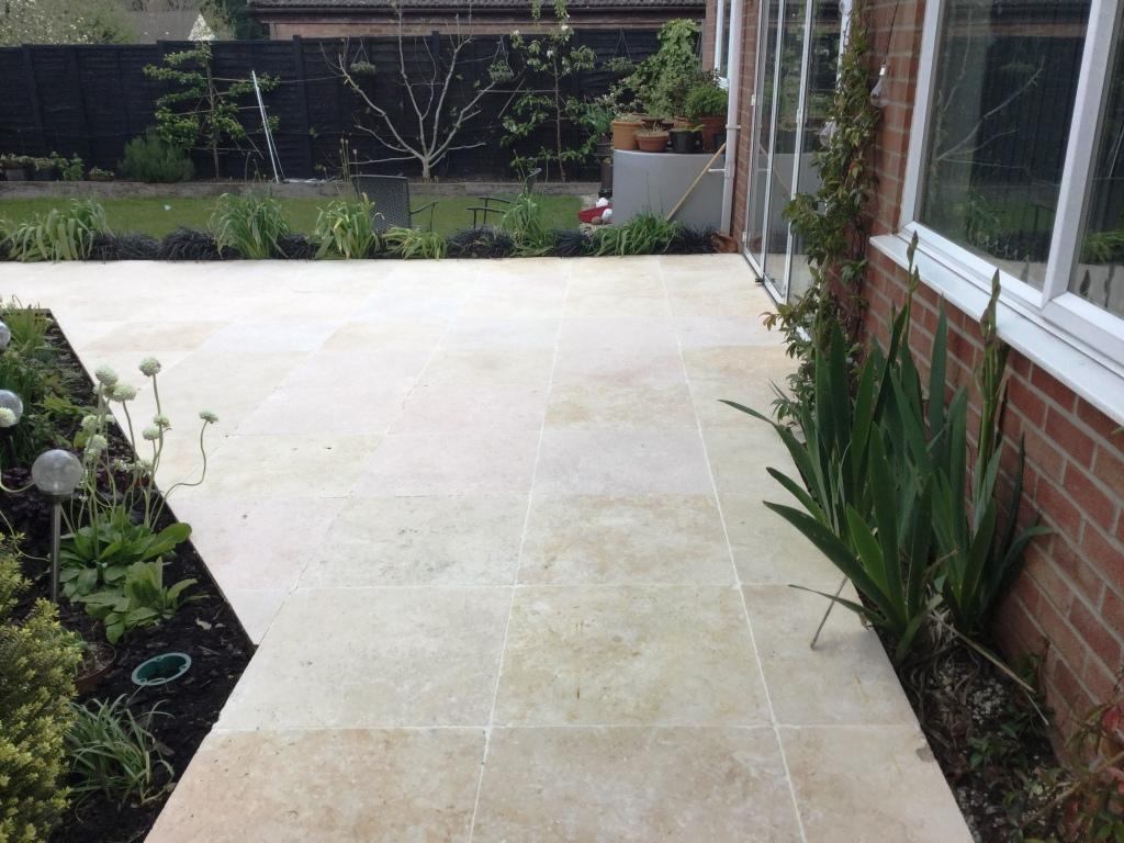 Egyptian Marble Patio Bozeat After Cleaning