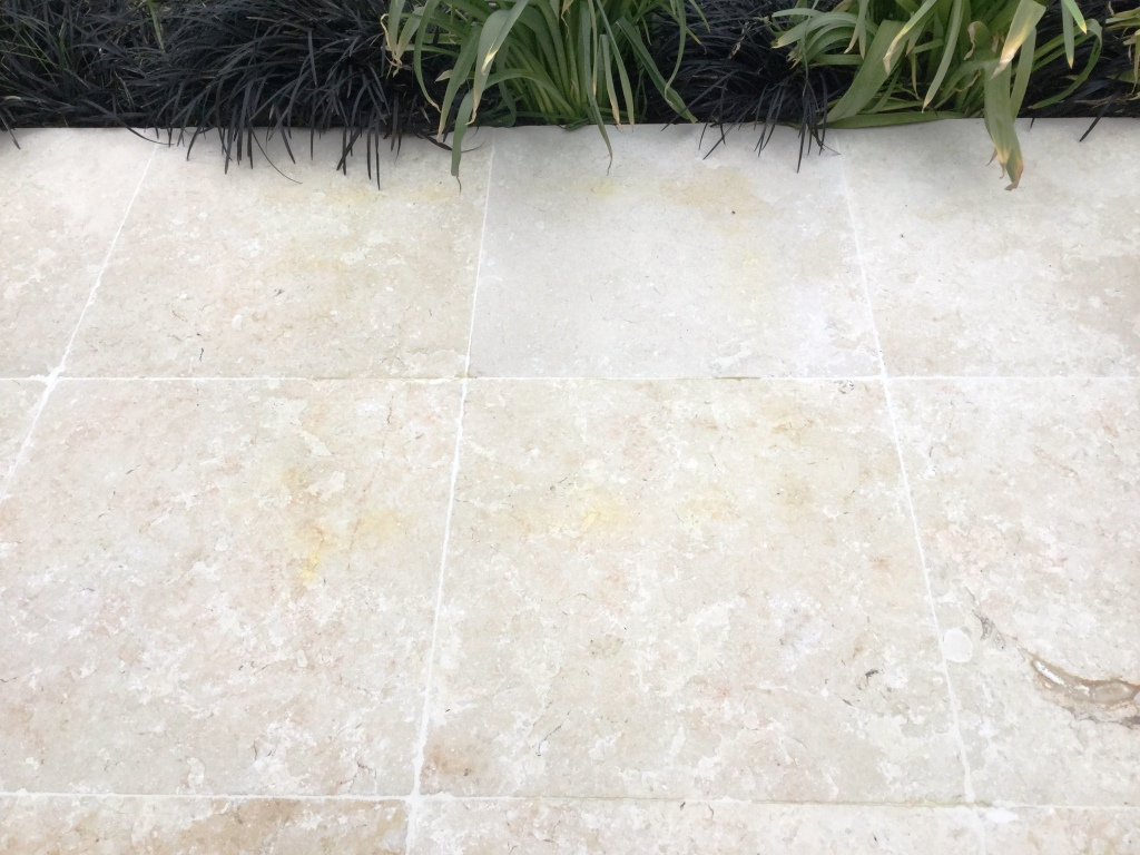 Rust Stained Egyptian Marble Patio Bozeat After Cleaning