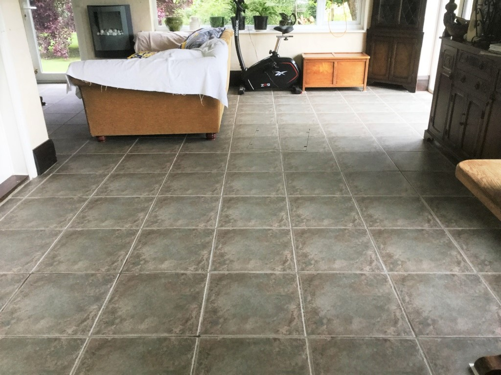 Cleaning Ceramic Tile and Grout After Cleaning Rushden Sun Room