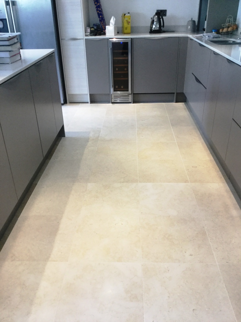 Polished Limestone Floor After Cleaning Ashton