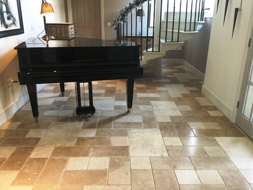 Travertine Tiled Floor Orlingbury After Maintenance