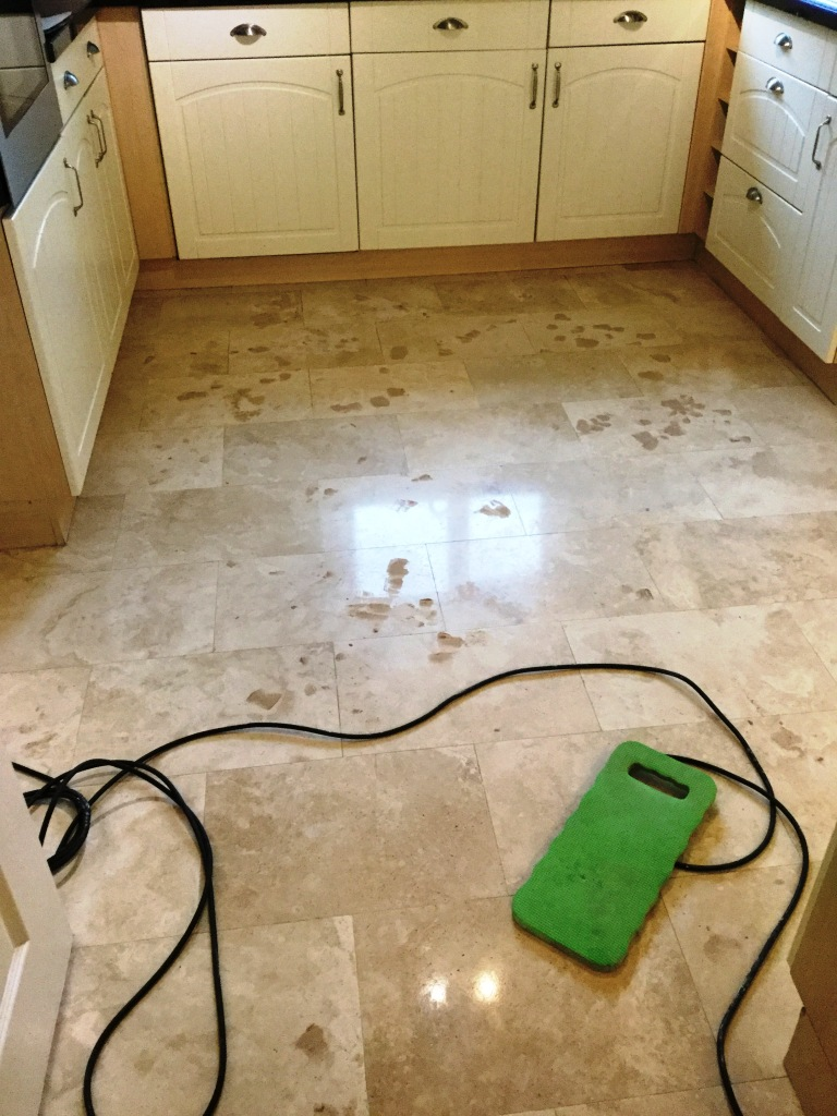 Pitted Travertine Before Filled Polished Rushden
