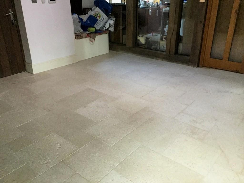 Honed Limestone Floor After Restoration Upper Boddington