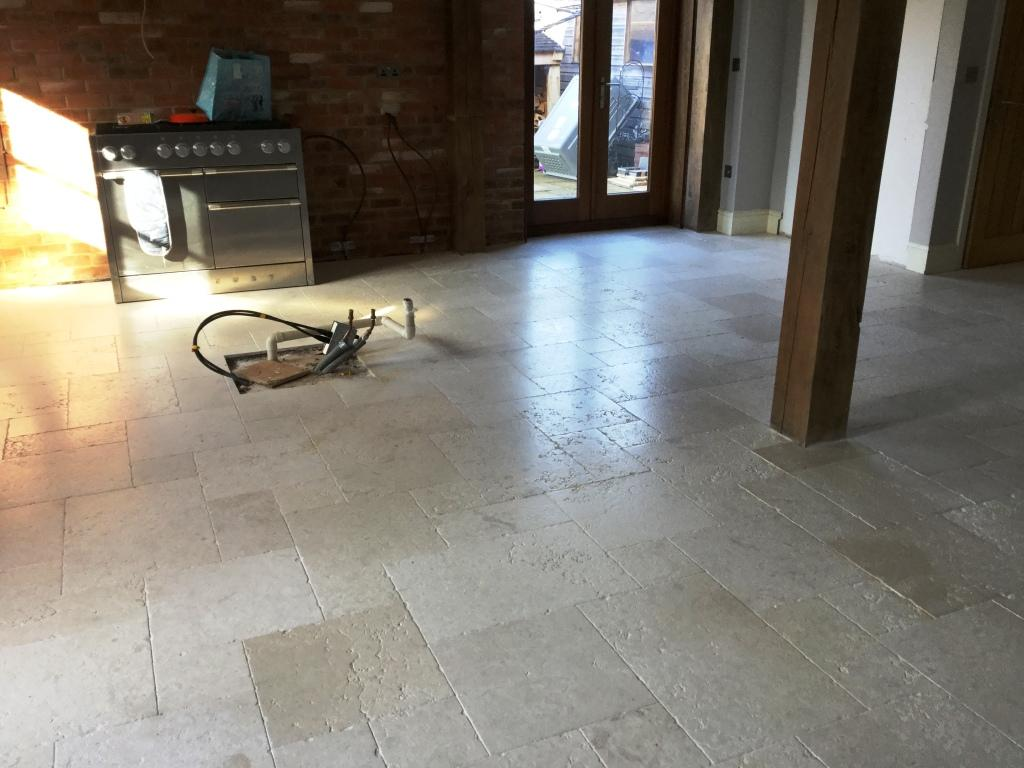 Honed Limestone Floor After Restoration Upper Boddington