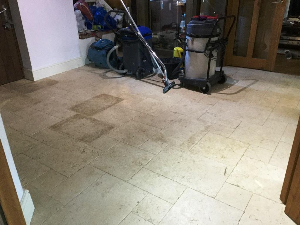 Honed Limestone Floor Before Restoration Upper Boddington