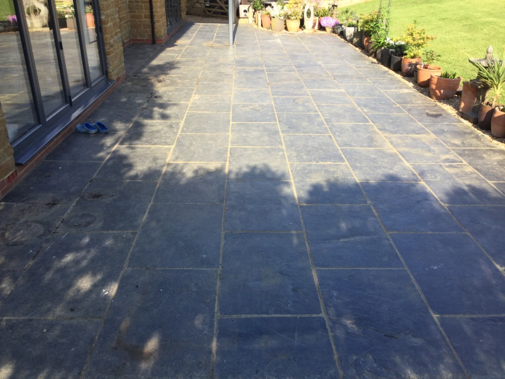 Renovating A Black Limestone Patio In Walgrave Tile