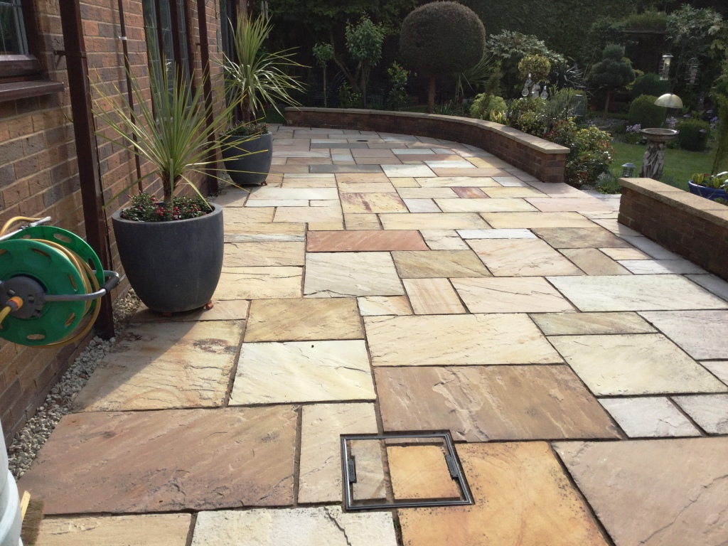 Indian Sandstone Patio After Cleaning Northampton