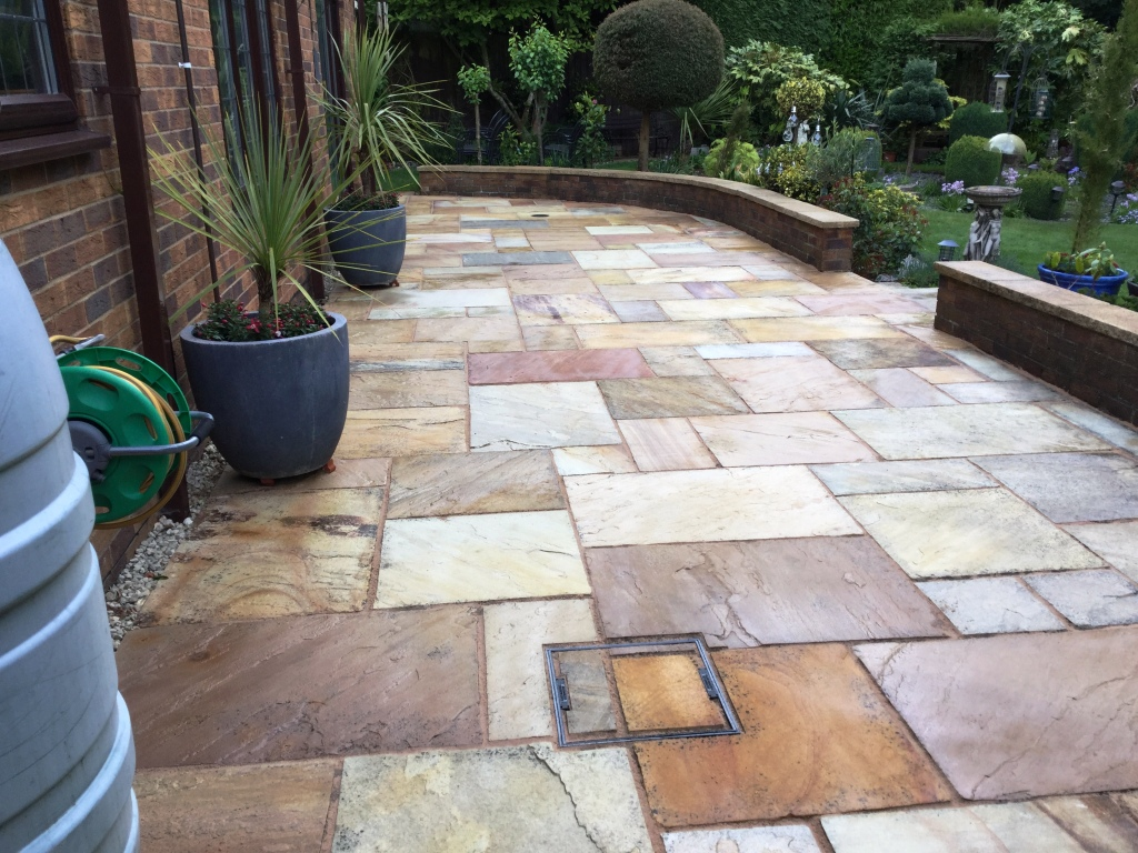 Indian Sandstone Patio After Sealing Northampton