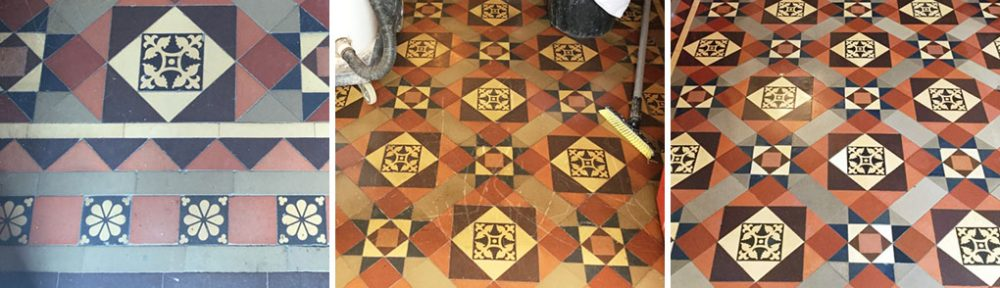 Removing Wax Scratches from Victorian Hallway Tiles in Rushden