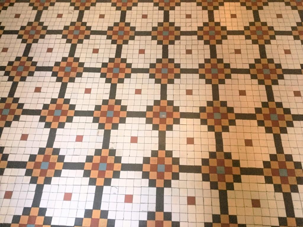 Edwardian Mosaic Tiled Hallway Floor After Cleaning Abington Park