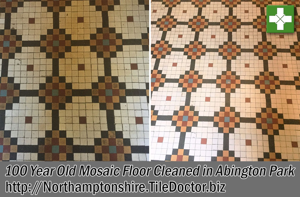 Mosaic Tiled Edwardian Floor Cleaning Abington Park
