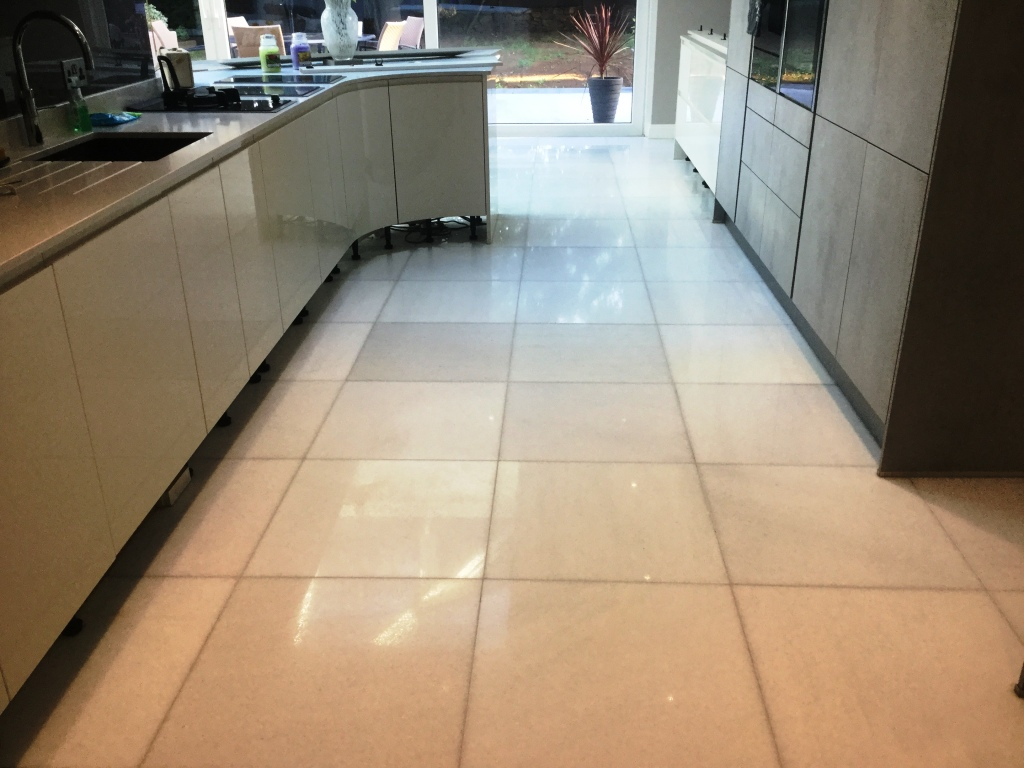 Marble Floor Restoration New Duston After Polishing
