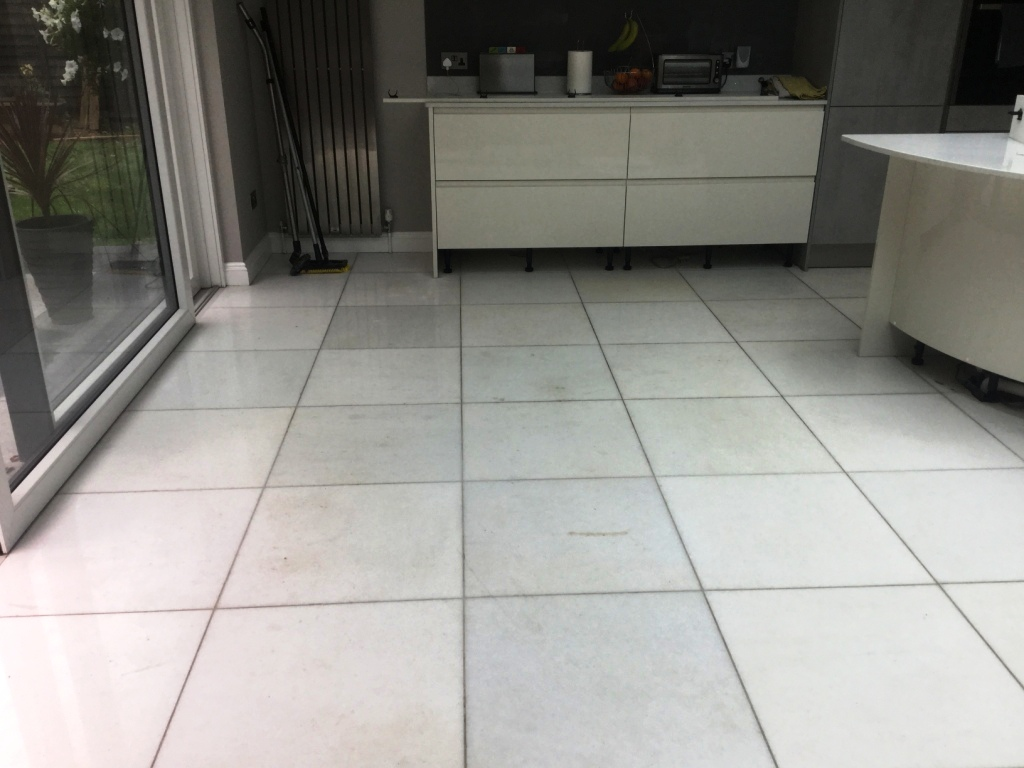 Marble Floor Restoration New Duston Before Polishing