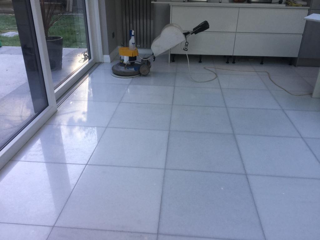 Marble Floor Restoration New Duston During Polishing