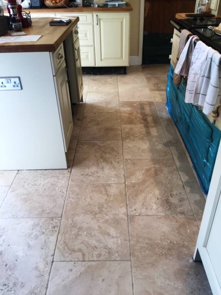 Pitted Tumbled Travertine After Cleaning Braybrooke