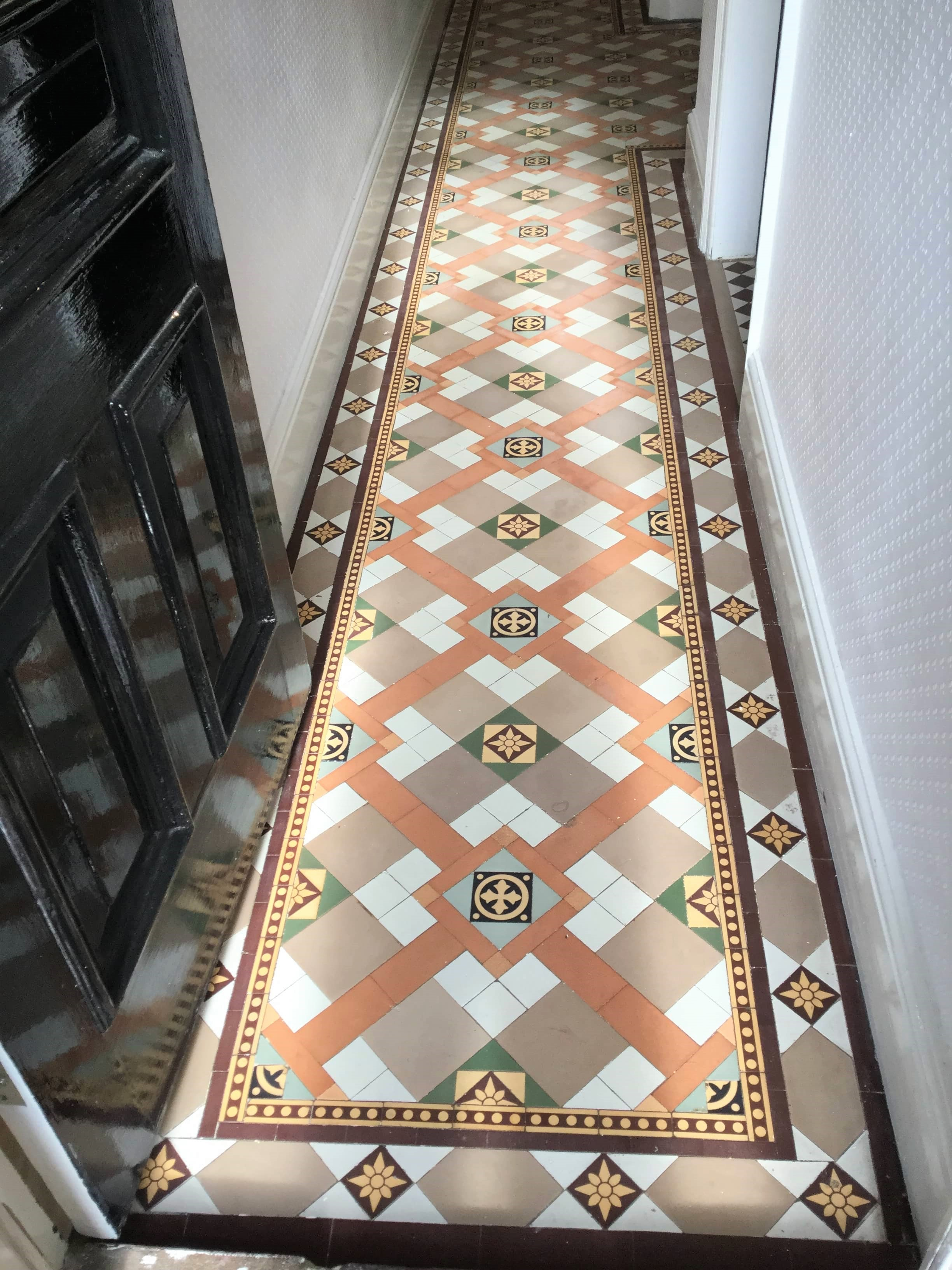 Victorian Tiled Hallway After Cleaning Kettering