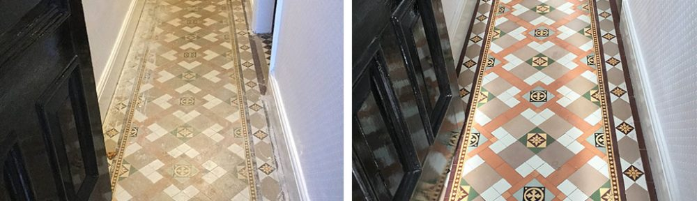 Victorian Tiles Discovered Under Lino Renovated in Kettering